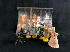 Lot Of 6 Vintage Wizard Of Oz Plastic Figurines Dorothy