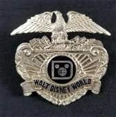 Vintage Early 1980s Disney Security Badge
