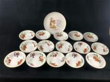 15 Bowl Evesham Royal Worcester Holly Plate 1961
