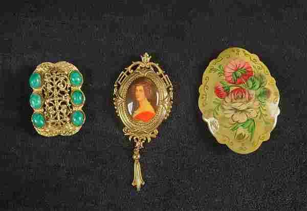 3 Piece Vintage Brooch Lot