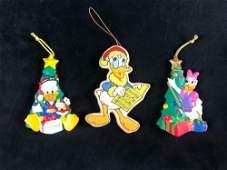 Lot Of 3 Walt Disney Donald Duck Daisy Duck Christmas
