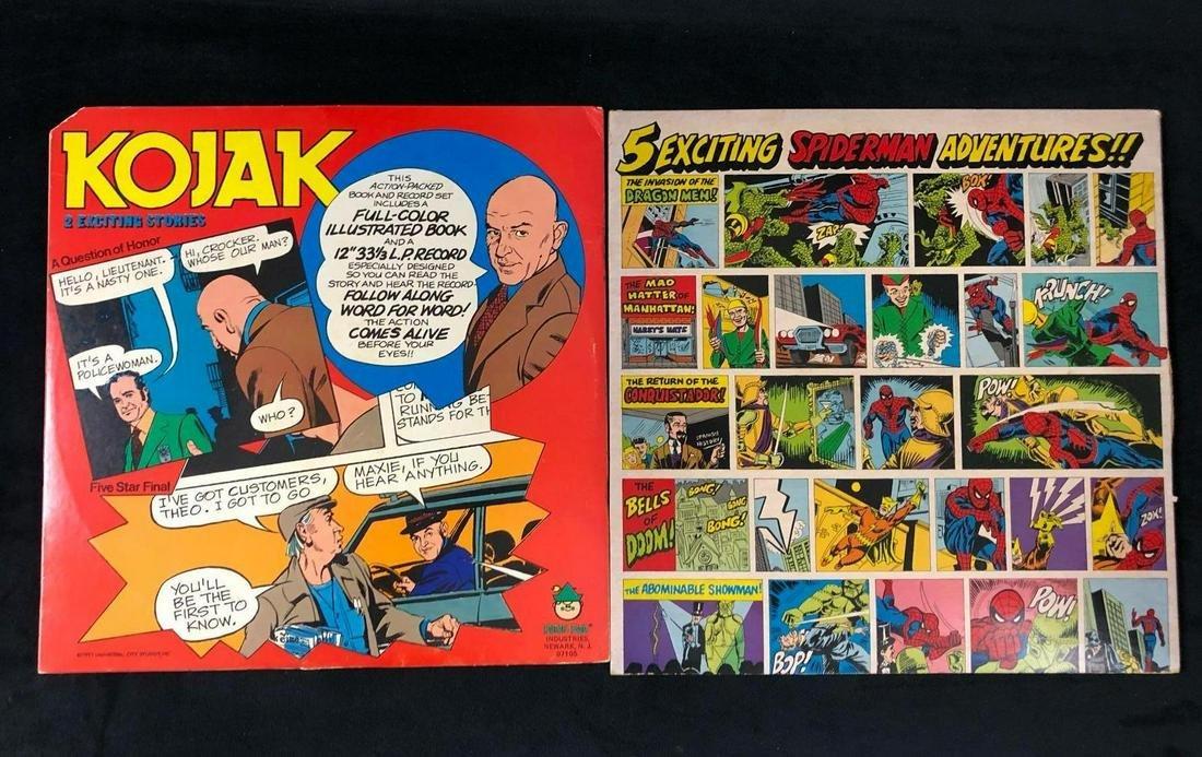 Lot Of 2 Vintage The Amazing Spider Man Kojack Story