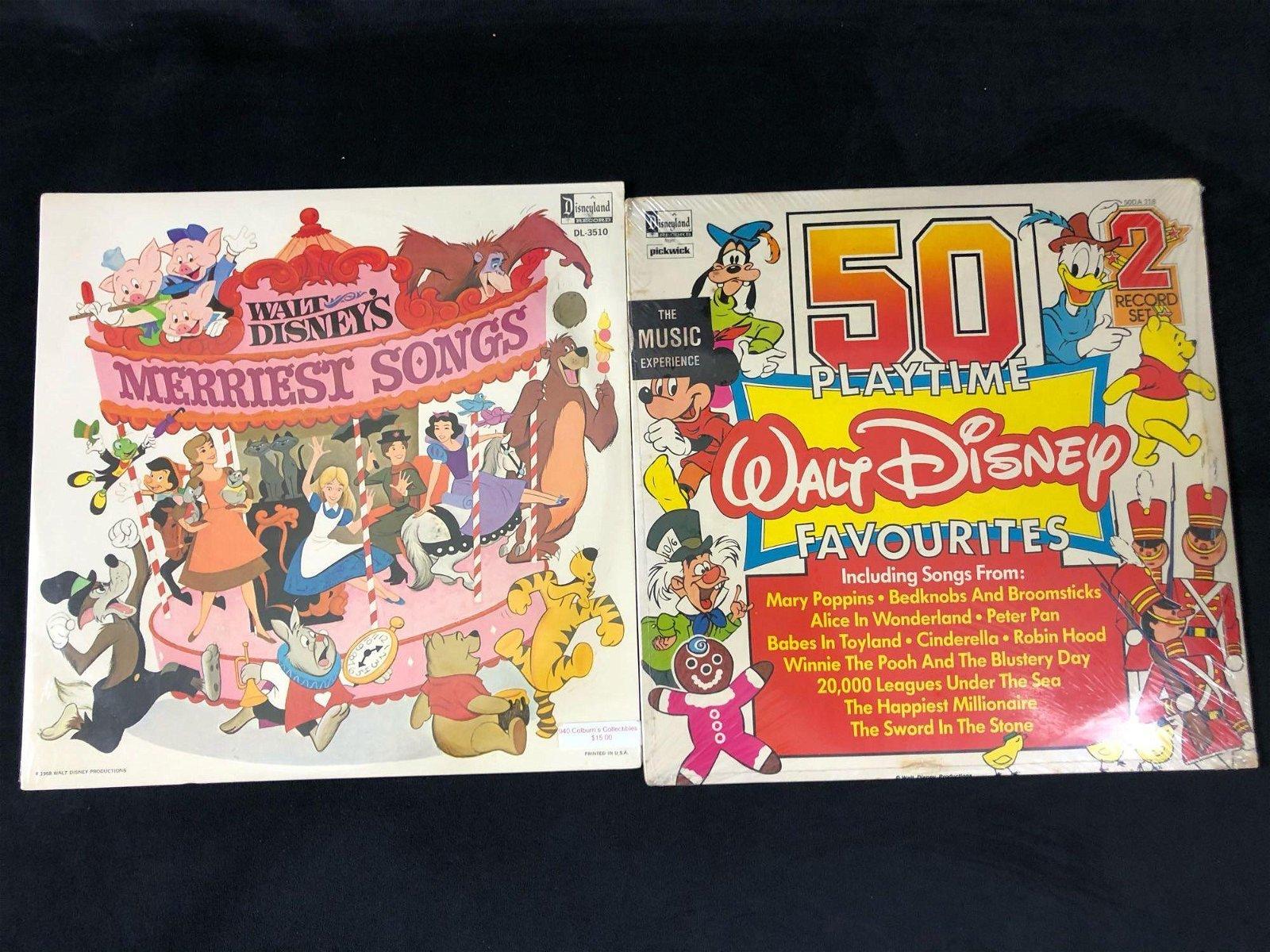Lot Of 2 Sealed Walt Disney Story Time Albums Vinyl