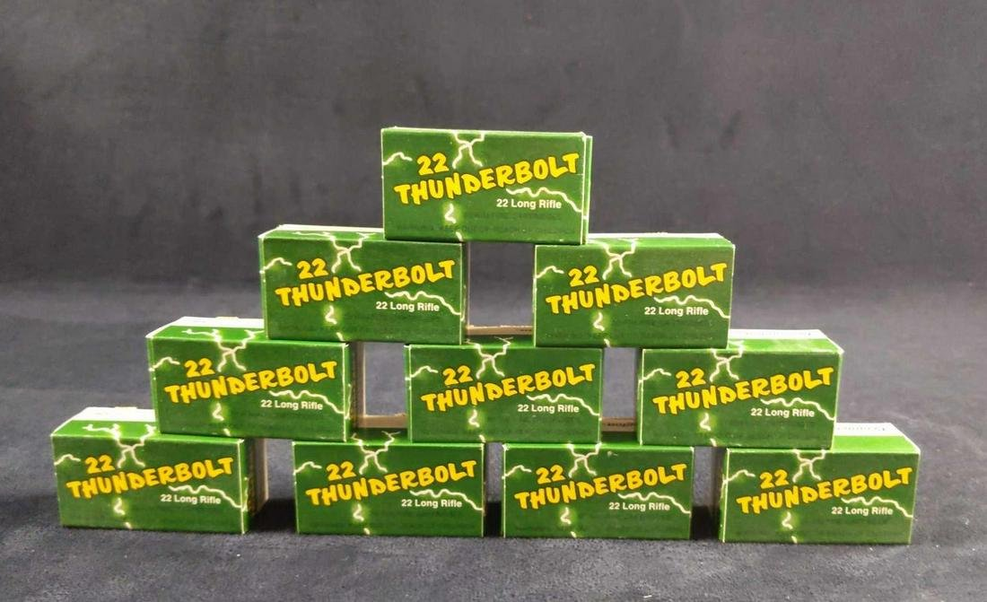 10 Boxes 22 Thunderbolt 22 Long Rifle High Speed