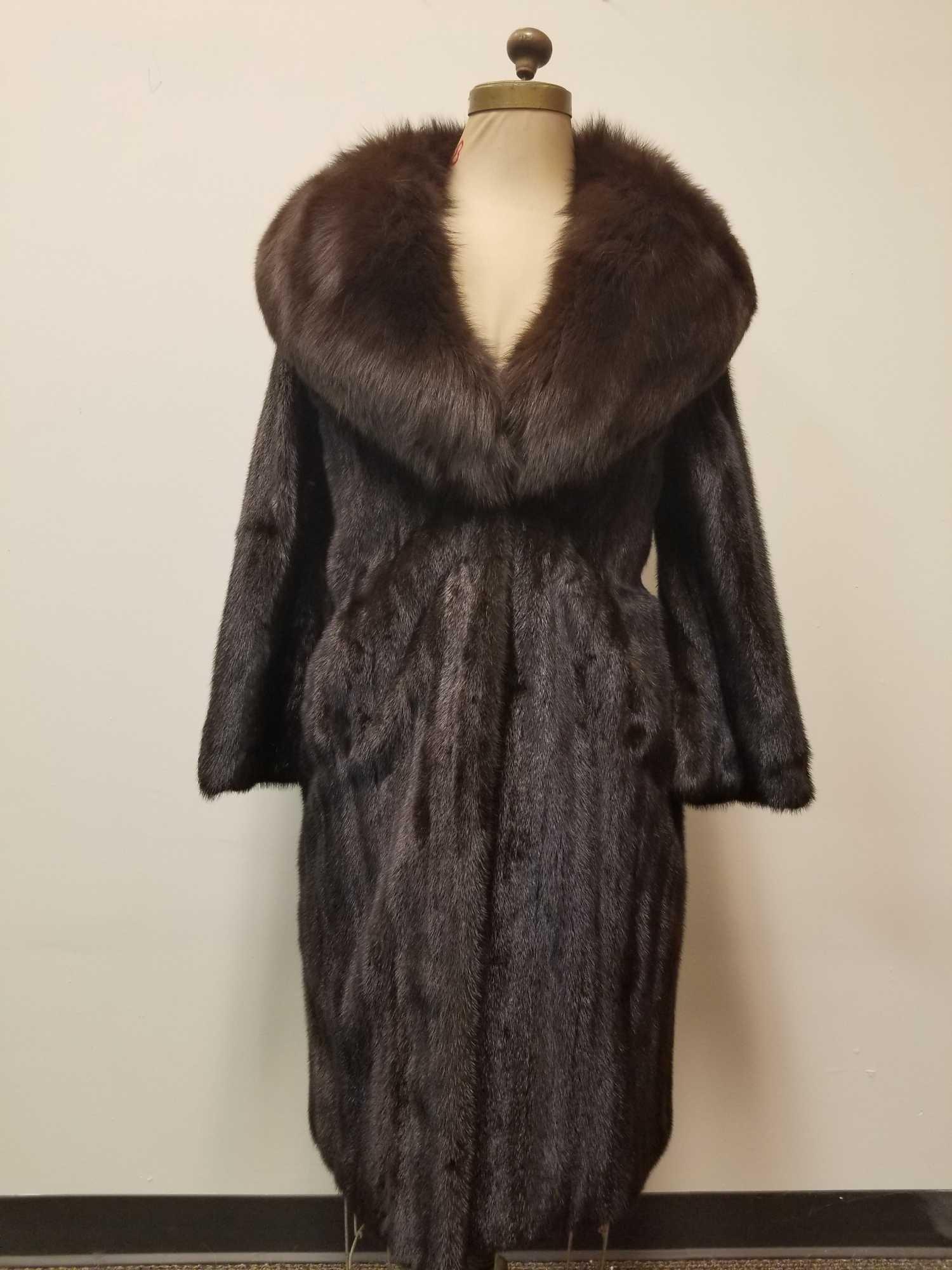 Full Length Mink Fur with Fox Collar by Birger