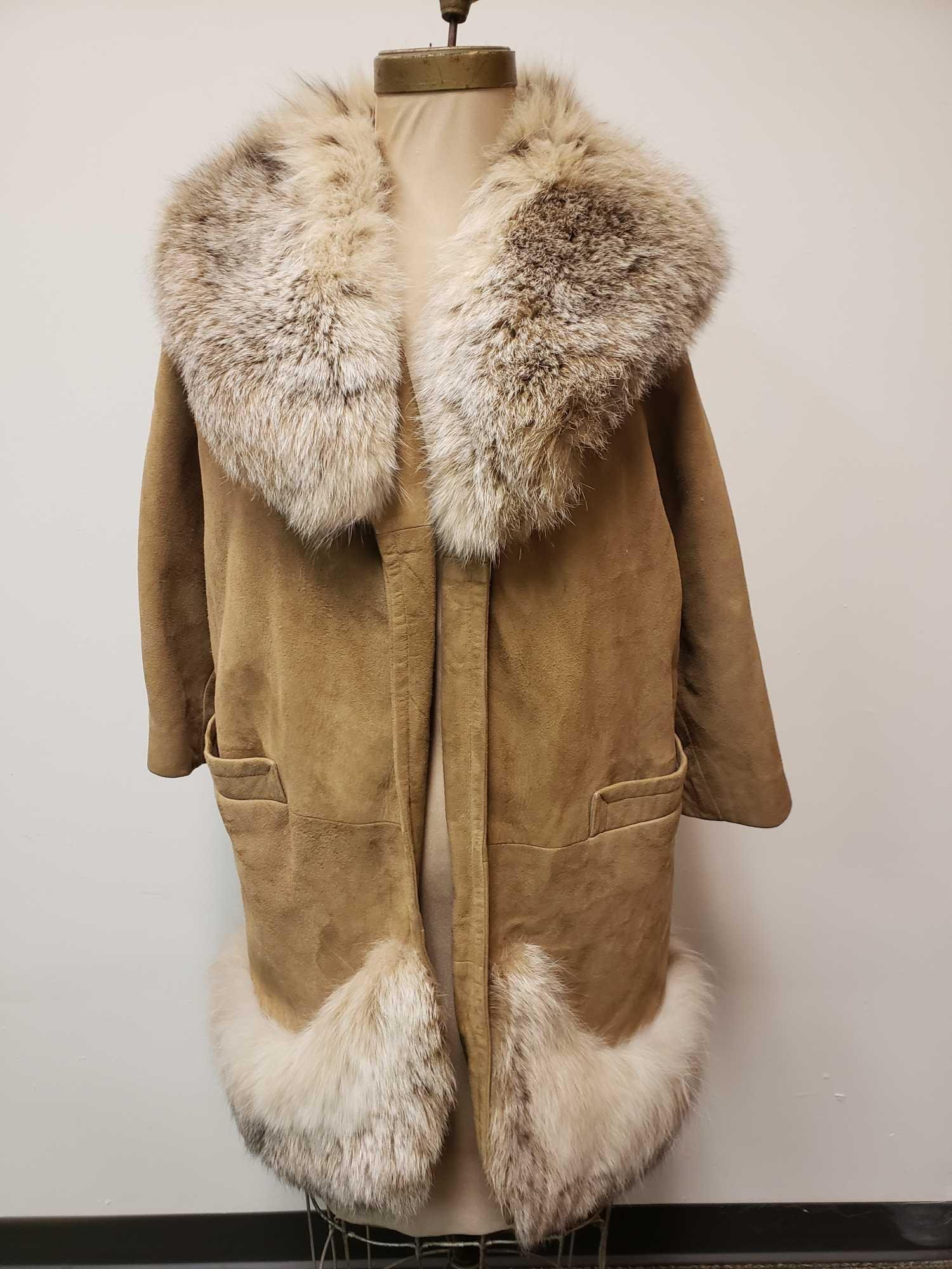 Gano Downs Suede and Fox Fur Jacket