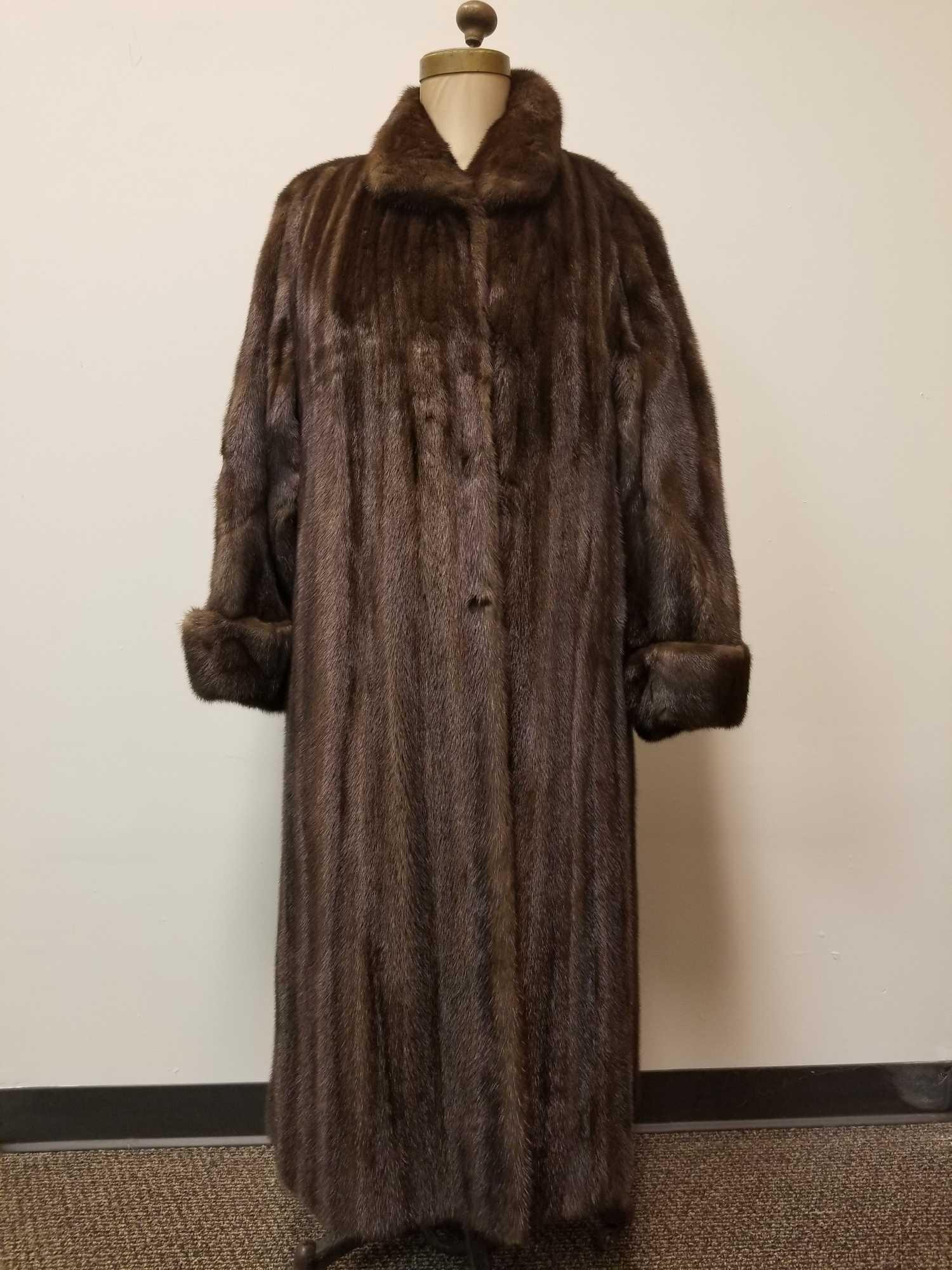 Dark Brown Mink Full Length Fur Coat