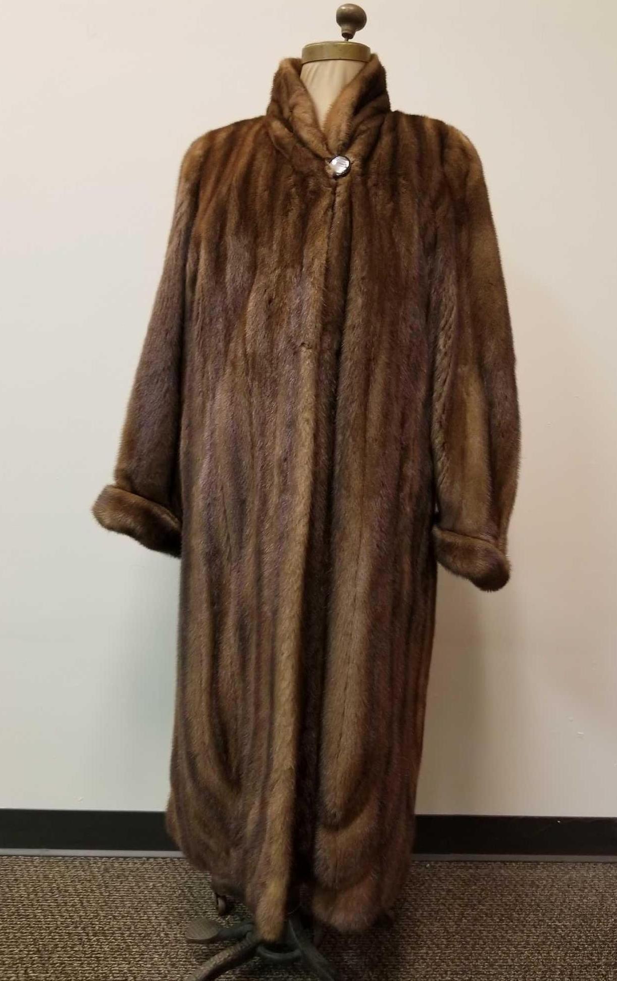 Maximillian Full Length Mink Fur Coat