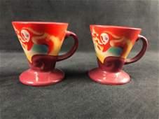 Pair of Vintage Frangelico Liqueur Mugs Coffee Cup Set