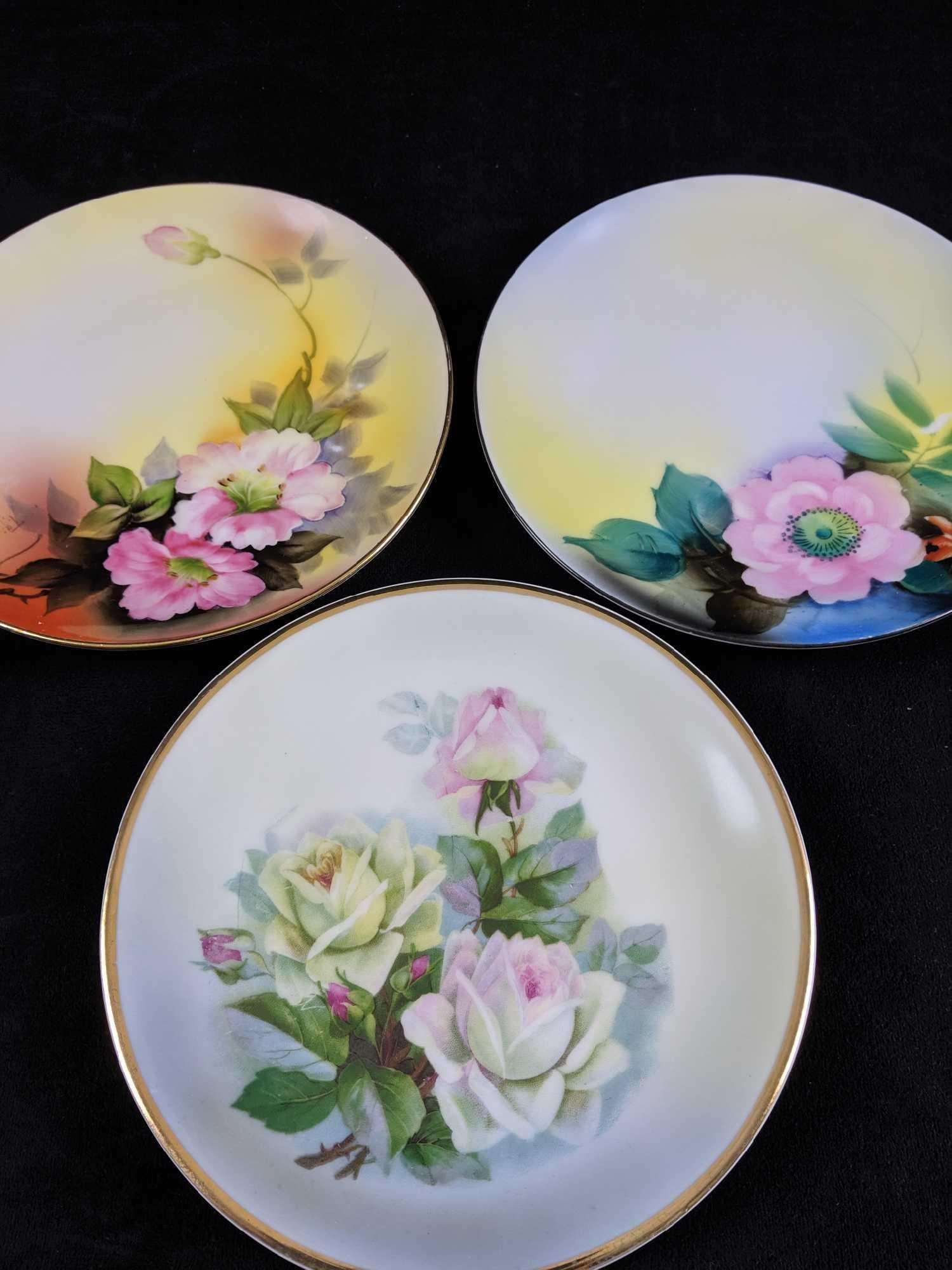 Lot of 3 Porcelain Plates Noritake CT Altwasser