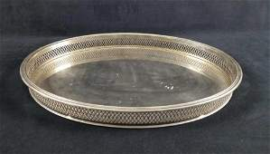 Silver Plated Tray With Art Deco Design