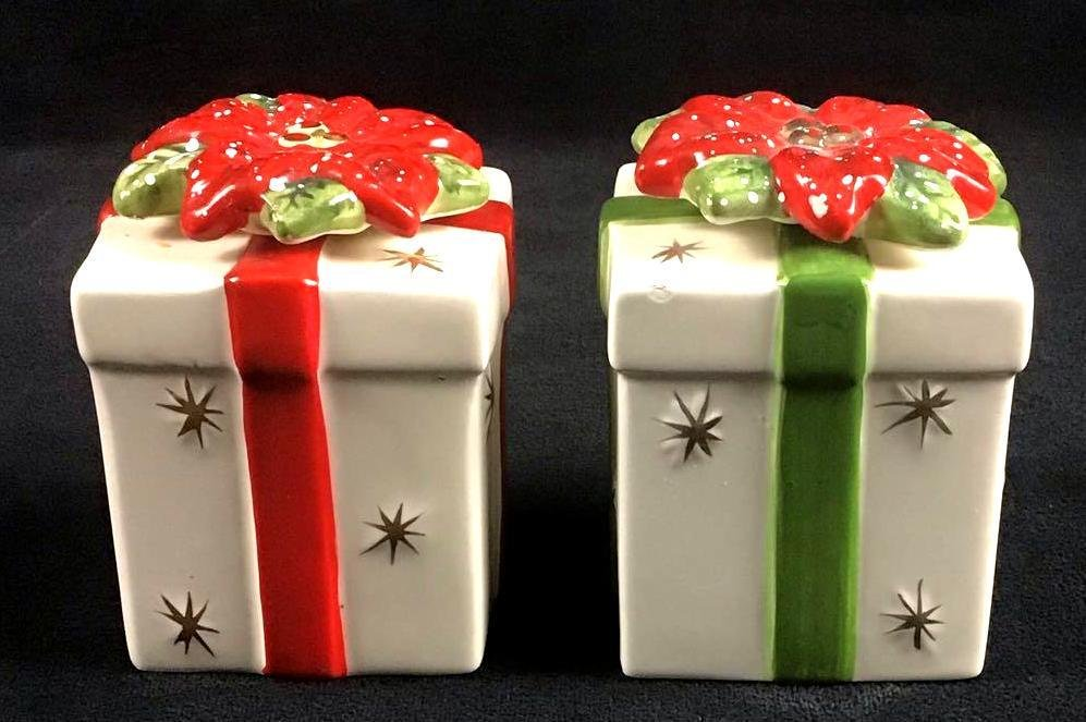 Lot of Salt and Pepper Ceramic Shakers Christmas