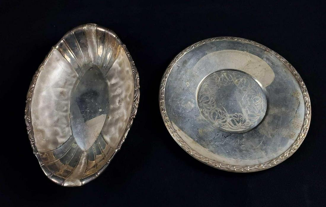 Silver Plate Tray Oval Bowl Meadowbrook Ikora