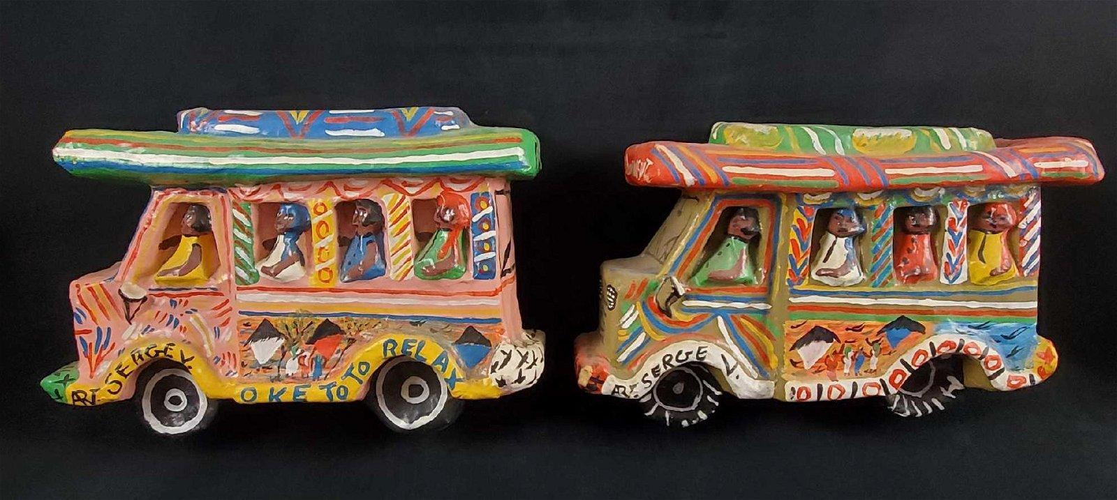 Folk Art Paper Mache Haitian Buses by R Serge