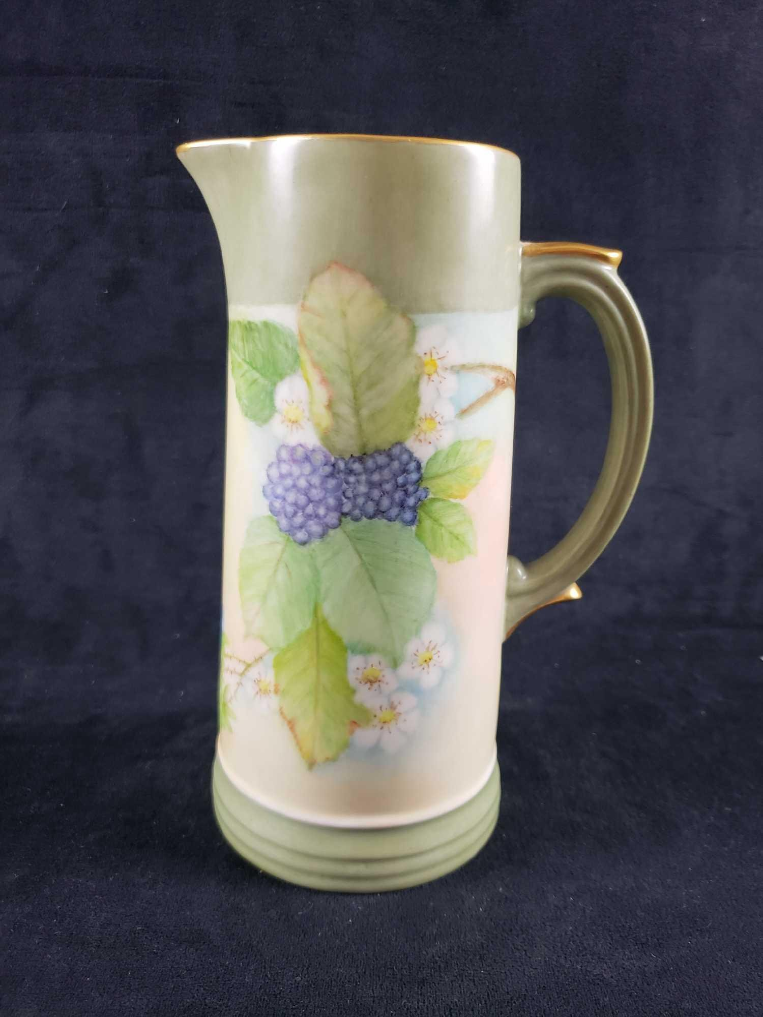 Hand Painted Bavarian Pitcher