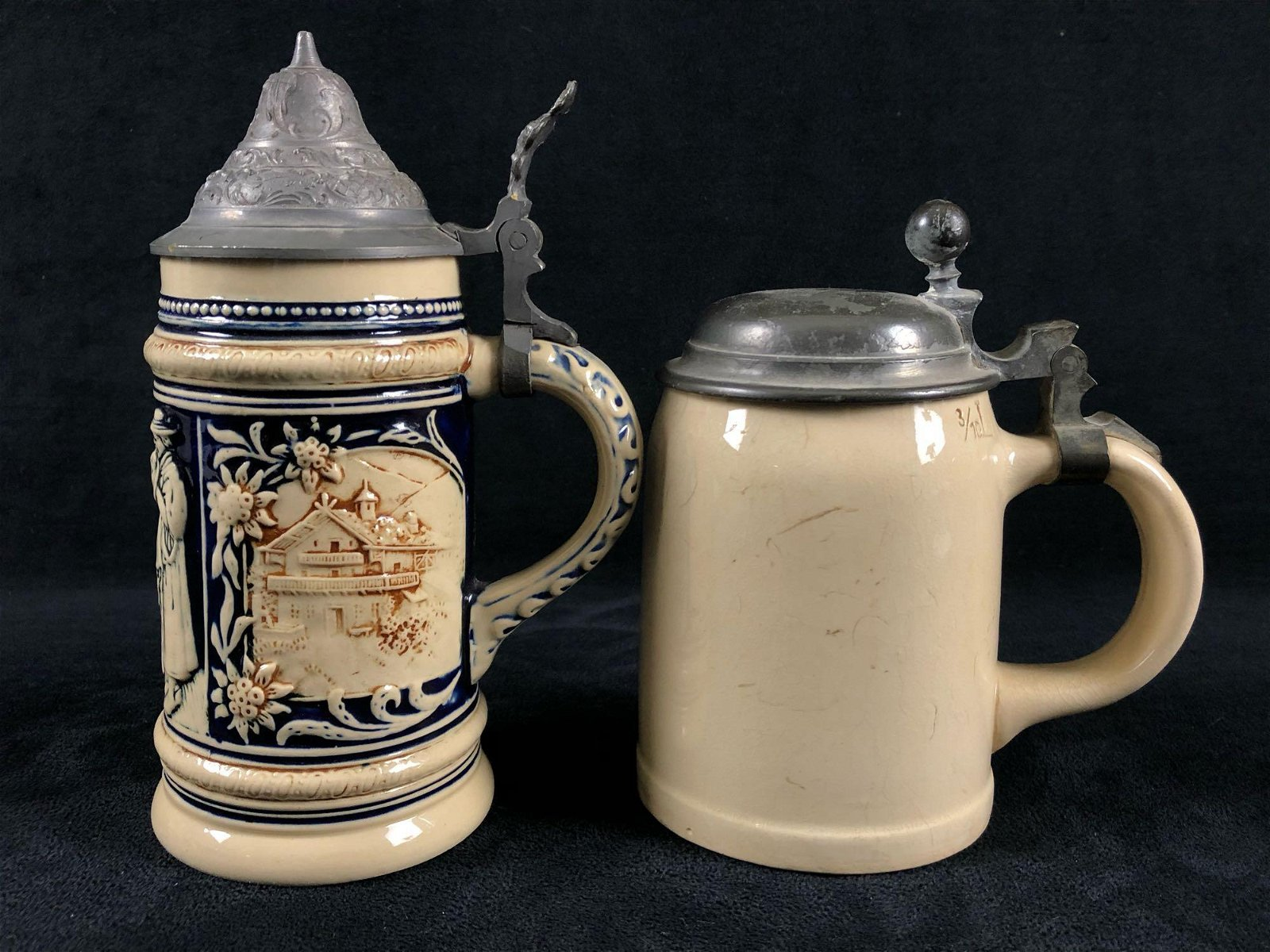 Vintage German Villeroy Boch Foreign Stoneware pewter