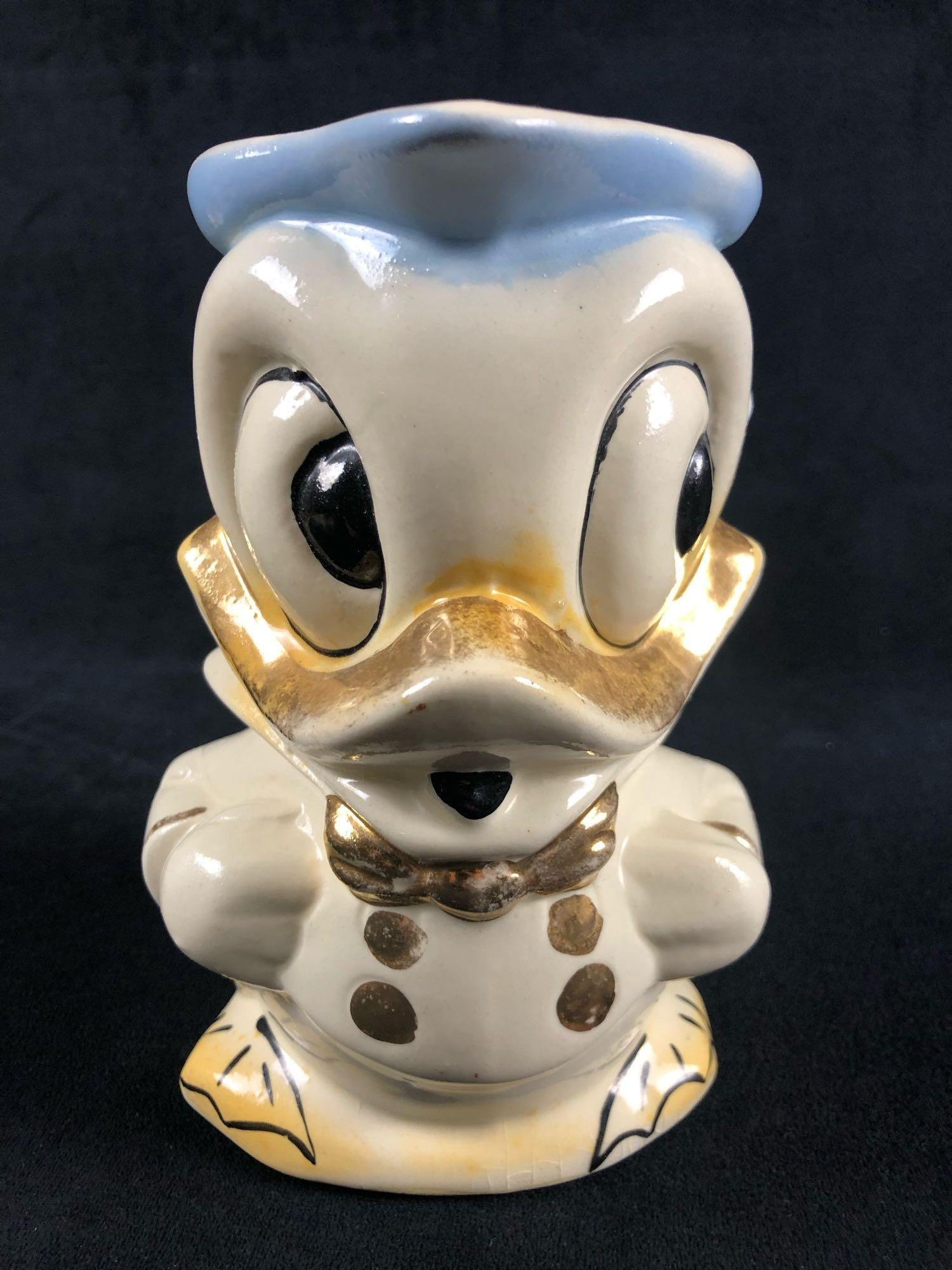 Vintage Donald Duck Ceramic Jug Pitcher Creamer Mid