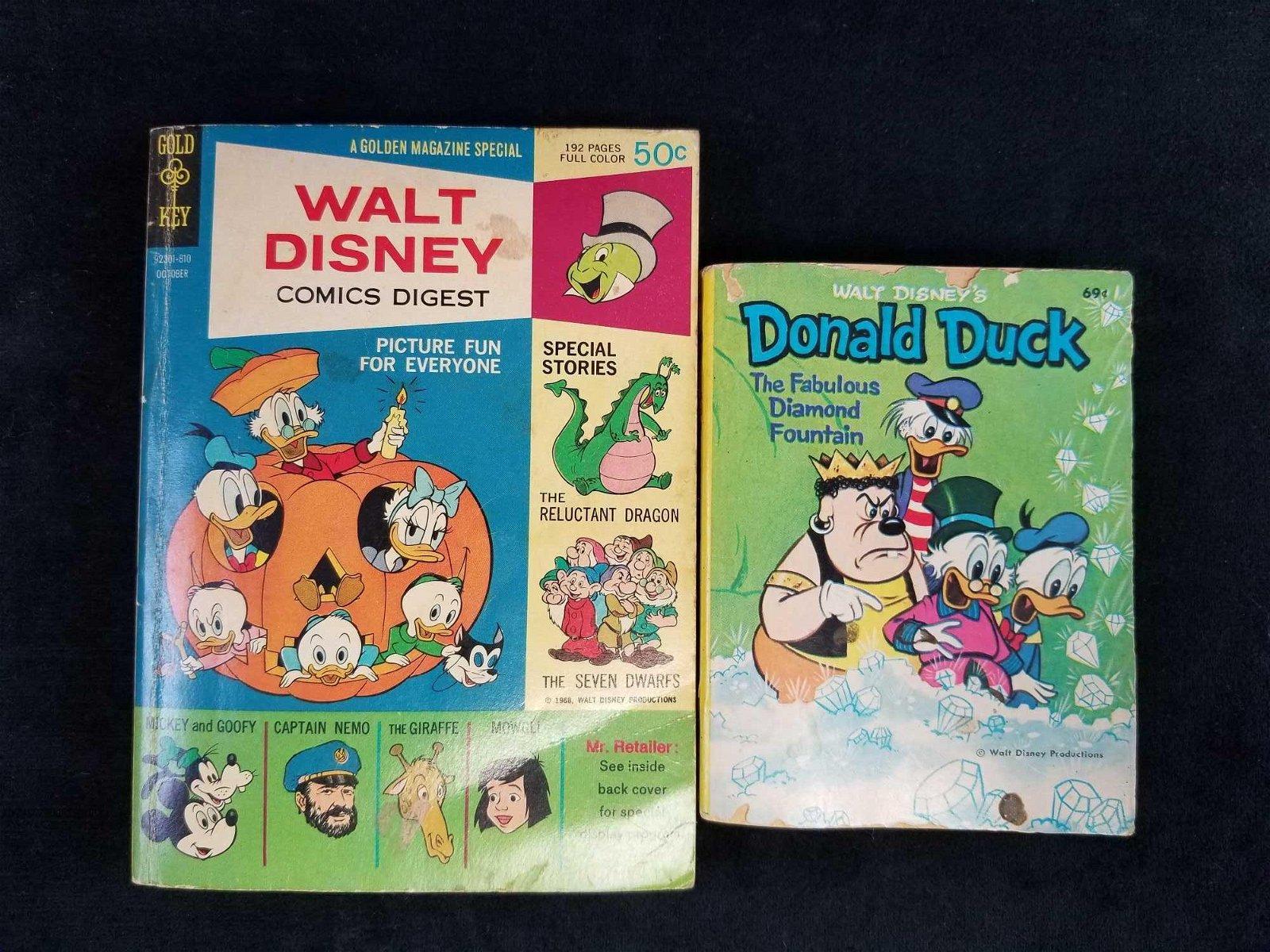 Vintage Walt Disney Donald Duck books lot of 2