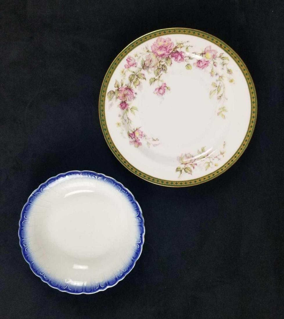 Set of Two Vintage Limoges China Plates