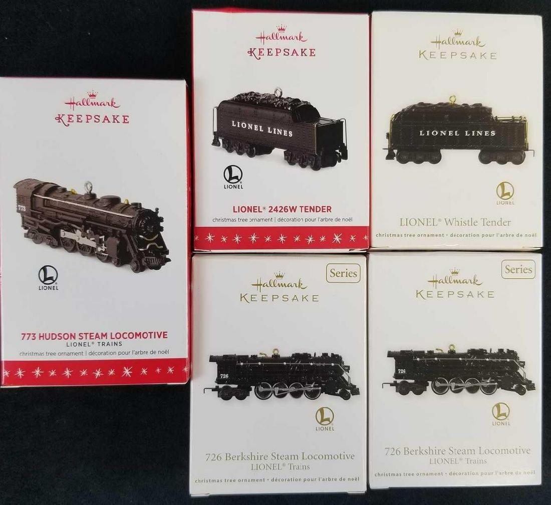 Hallmark Keepsake Lionel Train Ornaments Lot of 5