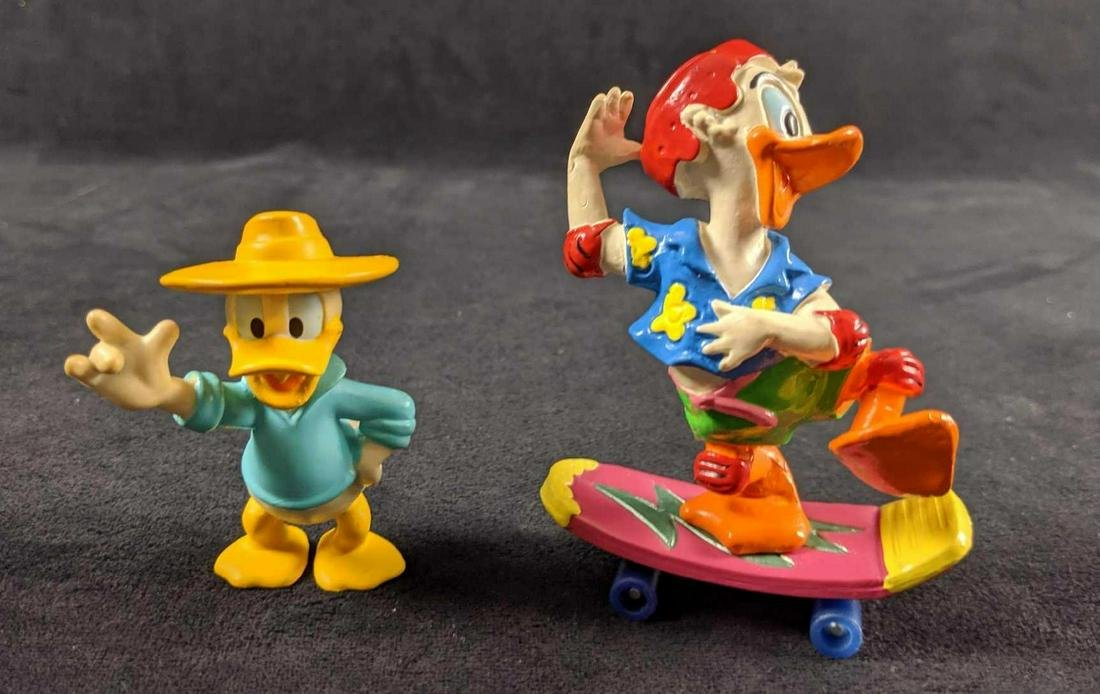 Two Vintage Disney Donald Duck PVC Figures From The