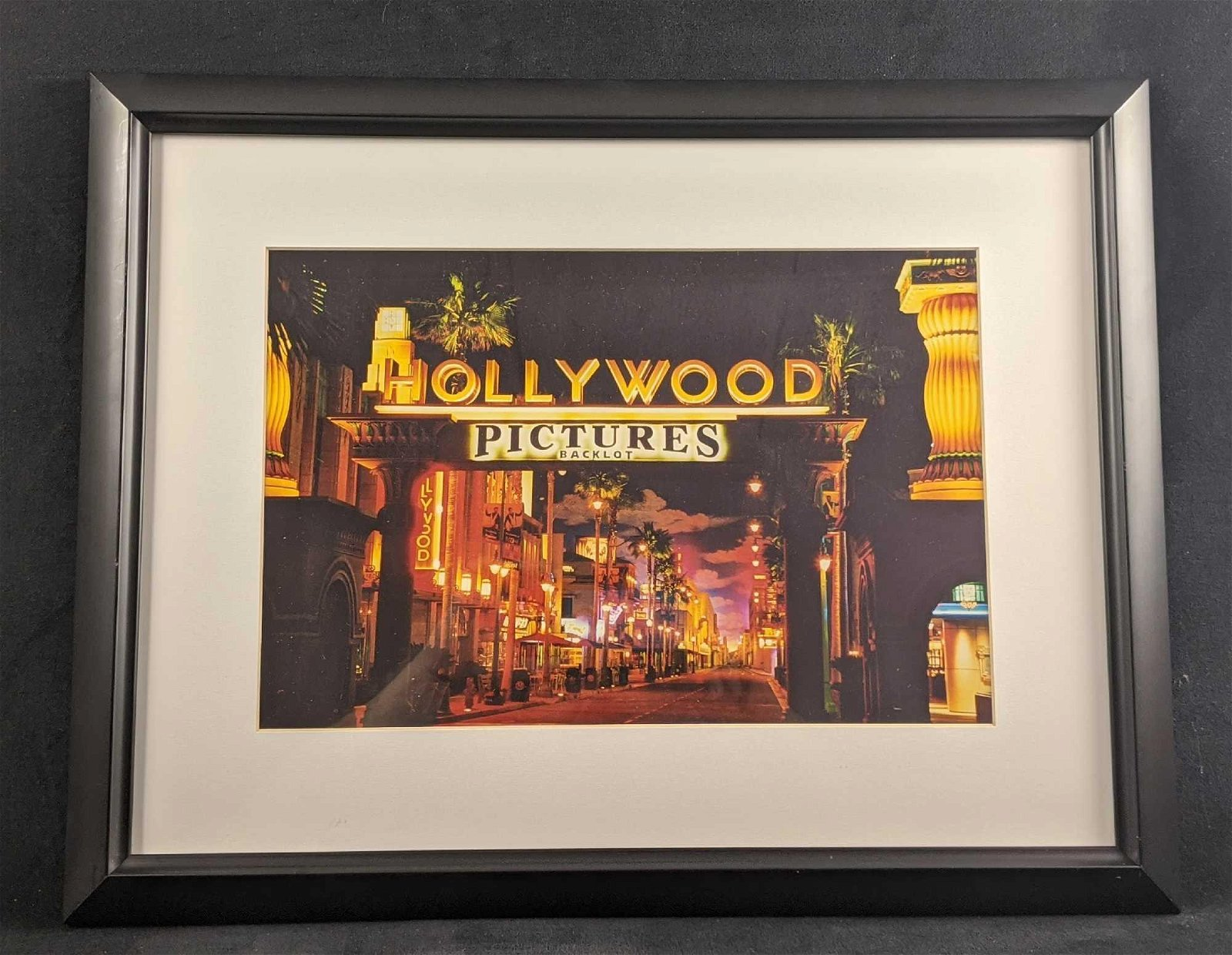 Disney Framed Photo Of Hollywood Pictures Backlot