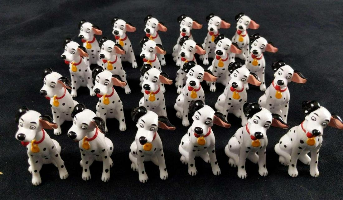 Disney 101 Dalmatians Pongo PVC Figures Lot Of 24