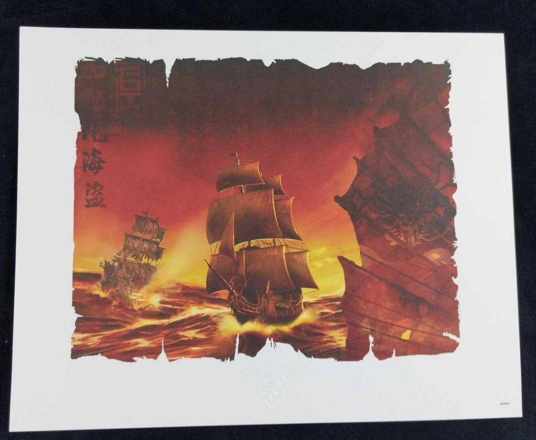 Disney Pirates of the Caribbean Limited Lithograph