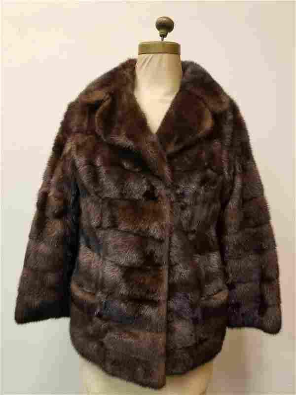 Vintage Dark Brown Mink Fur Coat