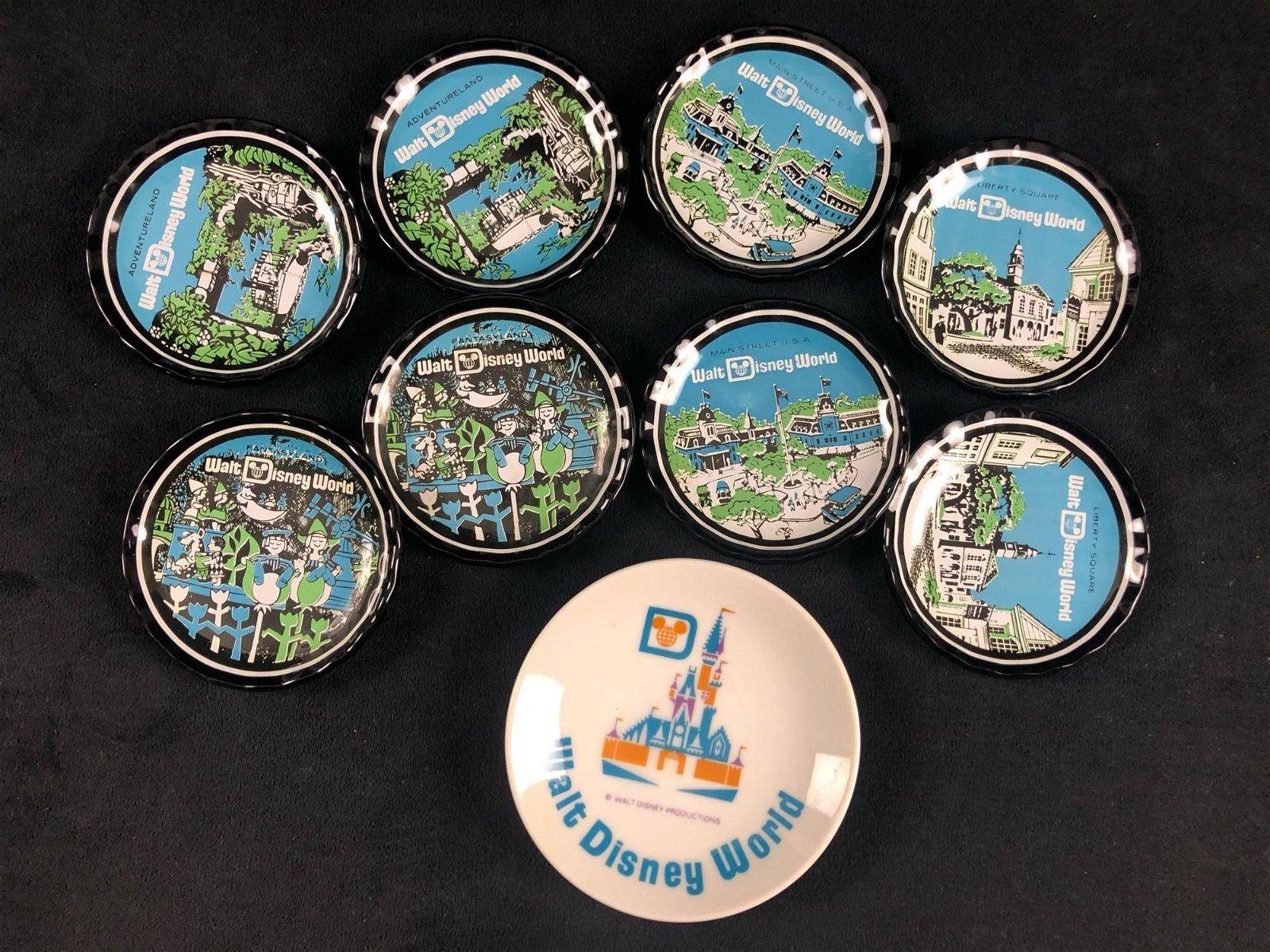 Lot of 9 Vintage Walt Disney World Mini Plates Magic