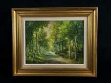 Vintage Signed Oil On Canvas R. Litzenberger Landscape