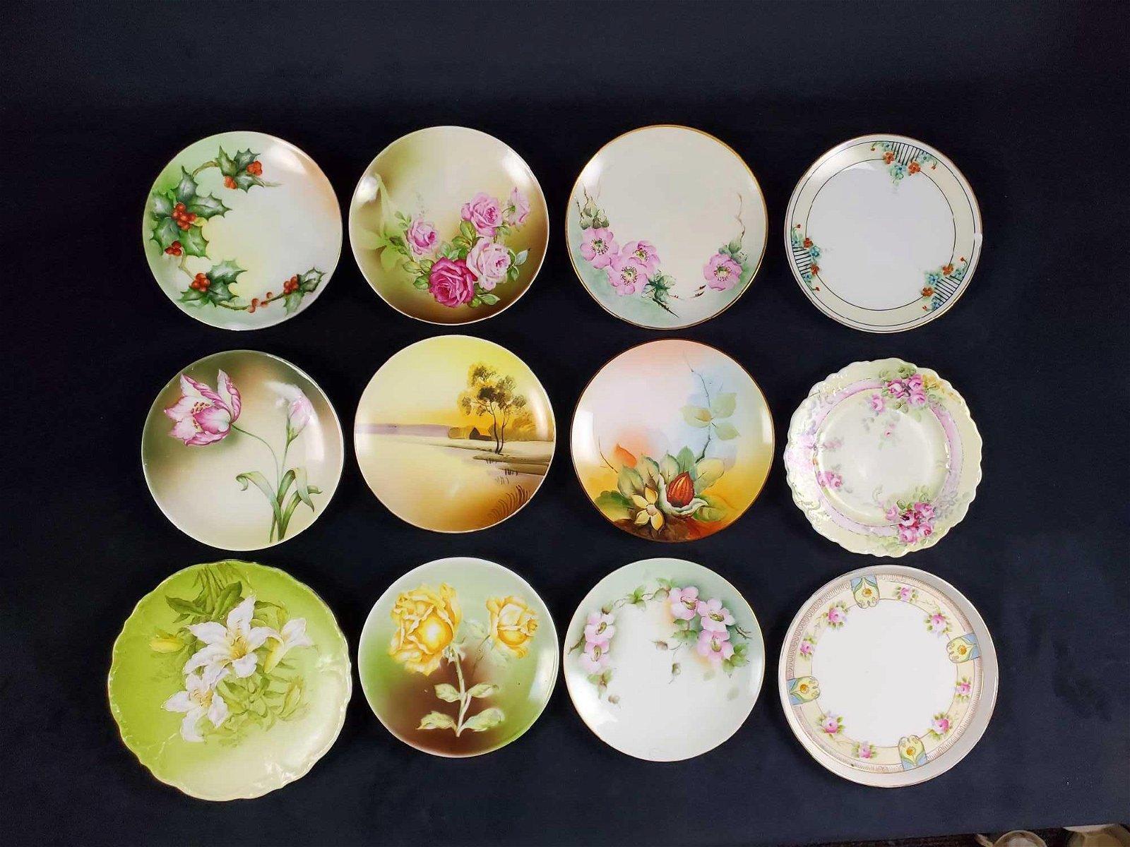 Vintage Lot Of Twelve Porcelain Plates