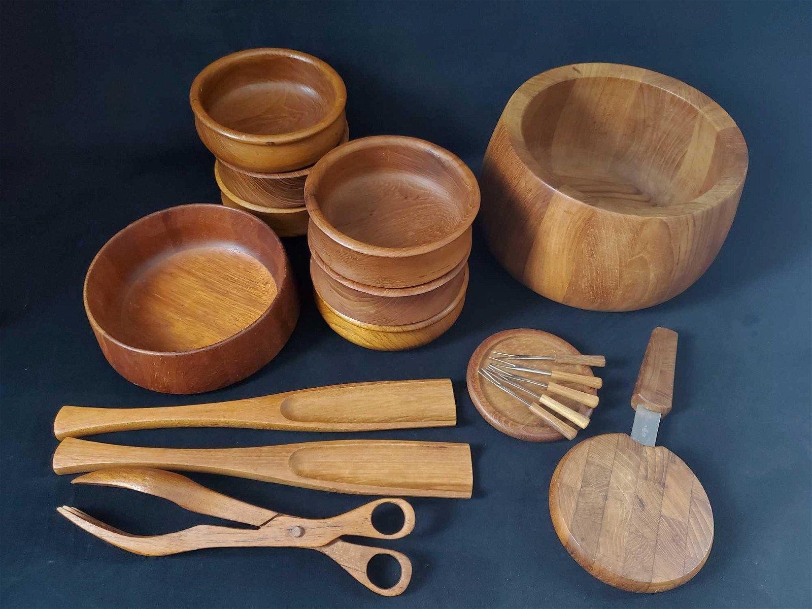 18 Piece Dansk Malaysia Wooden Kitchen Set