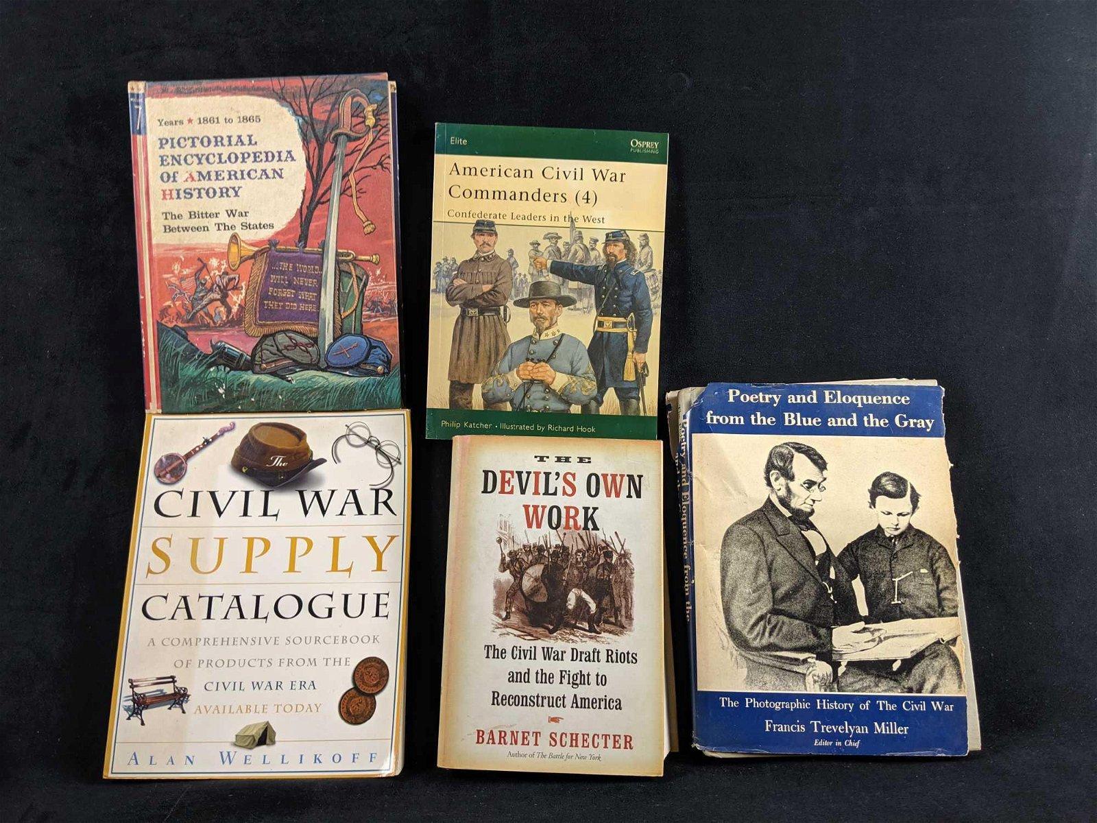 Lot Of Five Civil War Books B