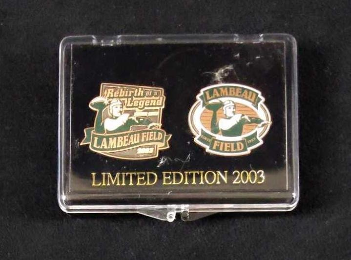 2003 Green Bay Packers LE Pins Set Of Two W Case