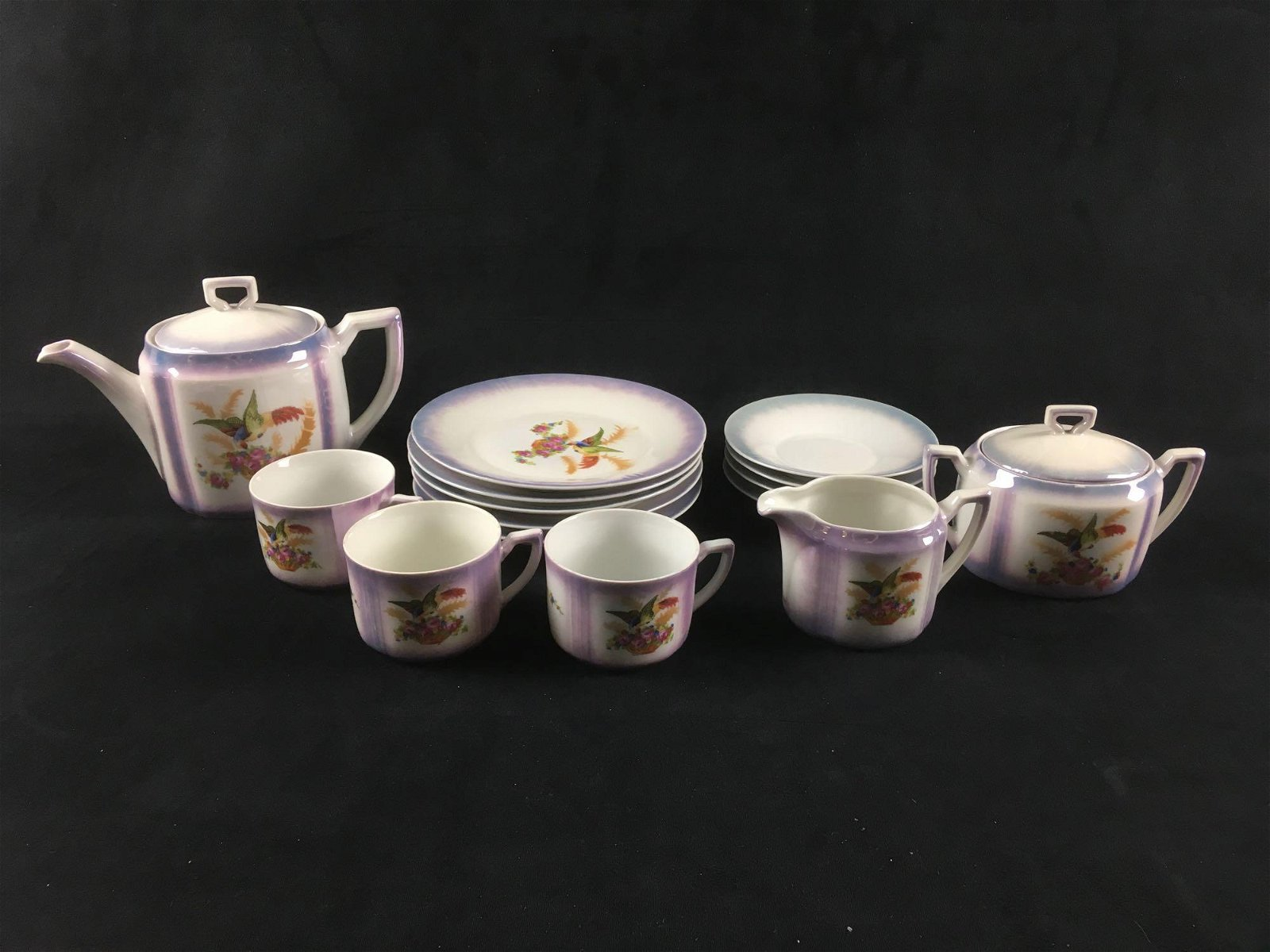 Light Purple Floral G.E. Made in Germany Lusterware