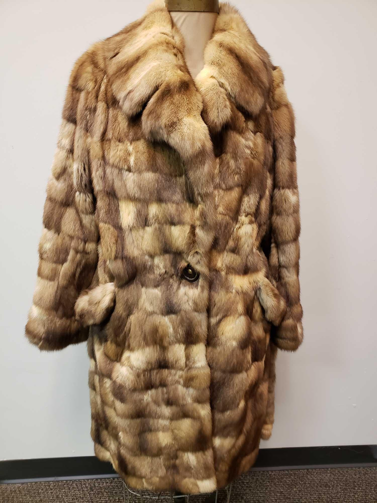 Ghislaine Rabbit Fur Coat