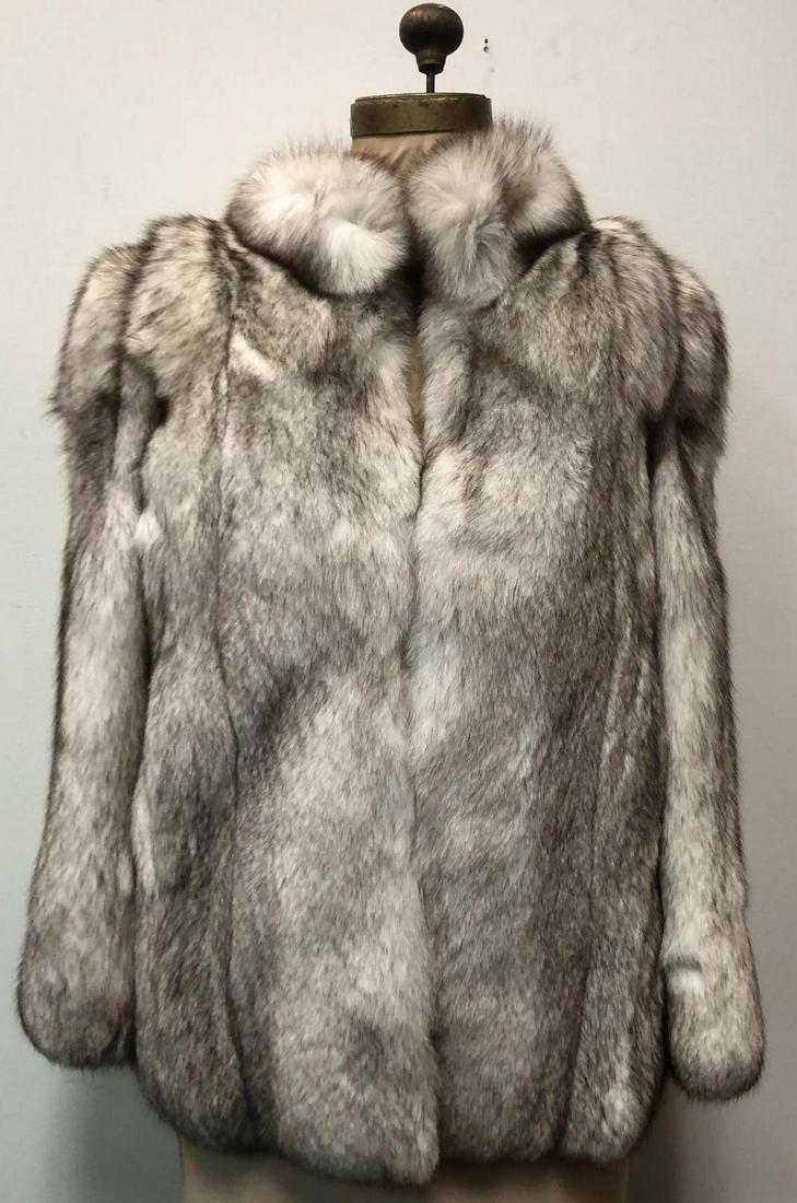 Blue Fox Jacket Fur Coat