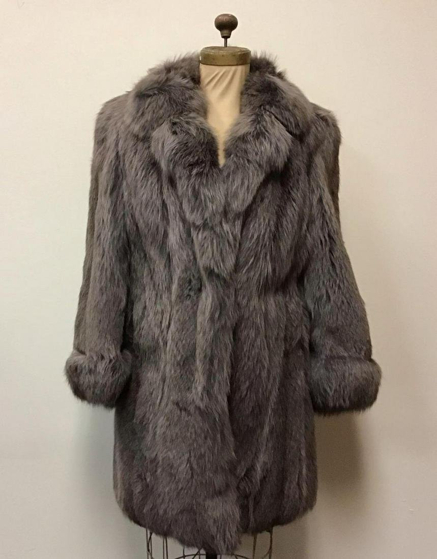 SAGA Dyed Fox Fur Coat Jacket Vintage Fashion