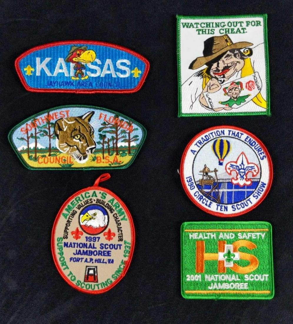 Official Boy Scouts Of America Patches Lof Of Six
