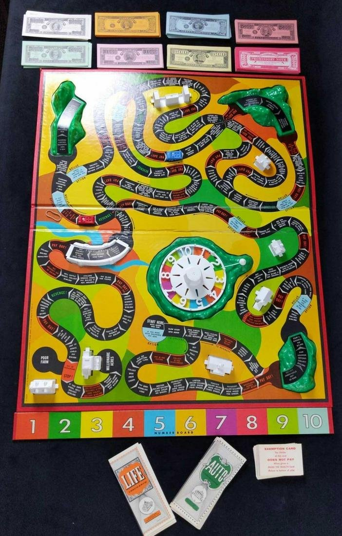 Vintage Milton Bradley The Game of Life Board Game
