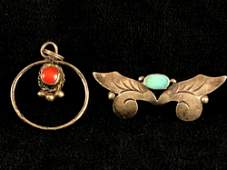 Vintage Sterling Silver  Navajo Native American
