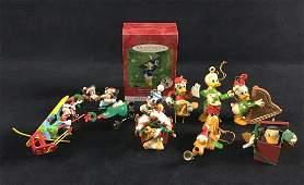 Lot of 9 Vintage Disney Keepsake Christmas Ornaments