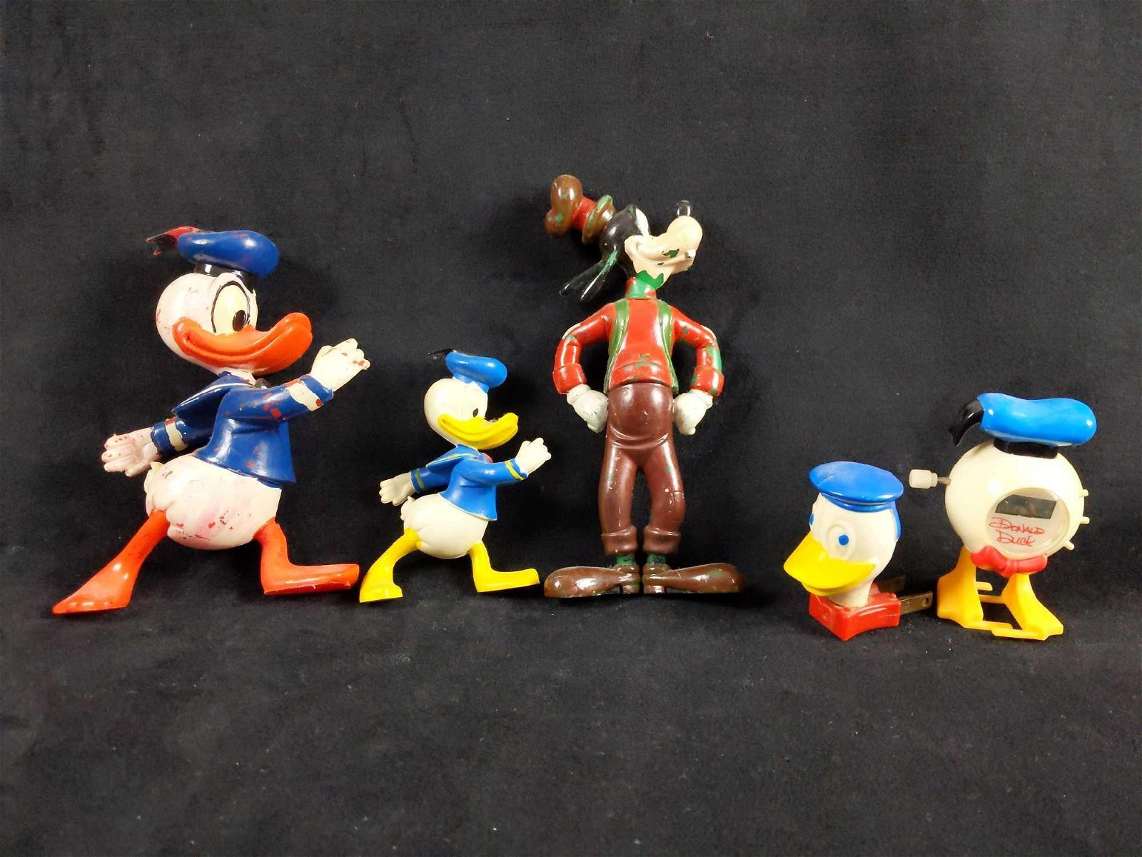 Assorted Vintage Disney Donald Duck Toys Lot of 5