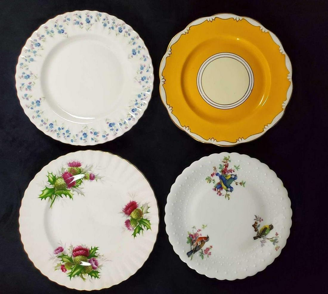 Vintage China Salad And Dessert Plates Lot Of Four