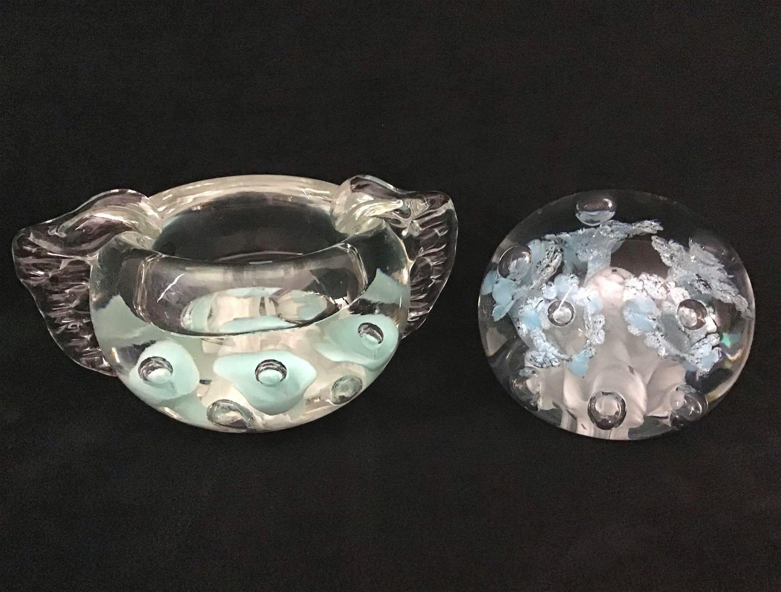 Glass Art Paperweight Ashtray Designer St Clair Lot