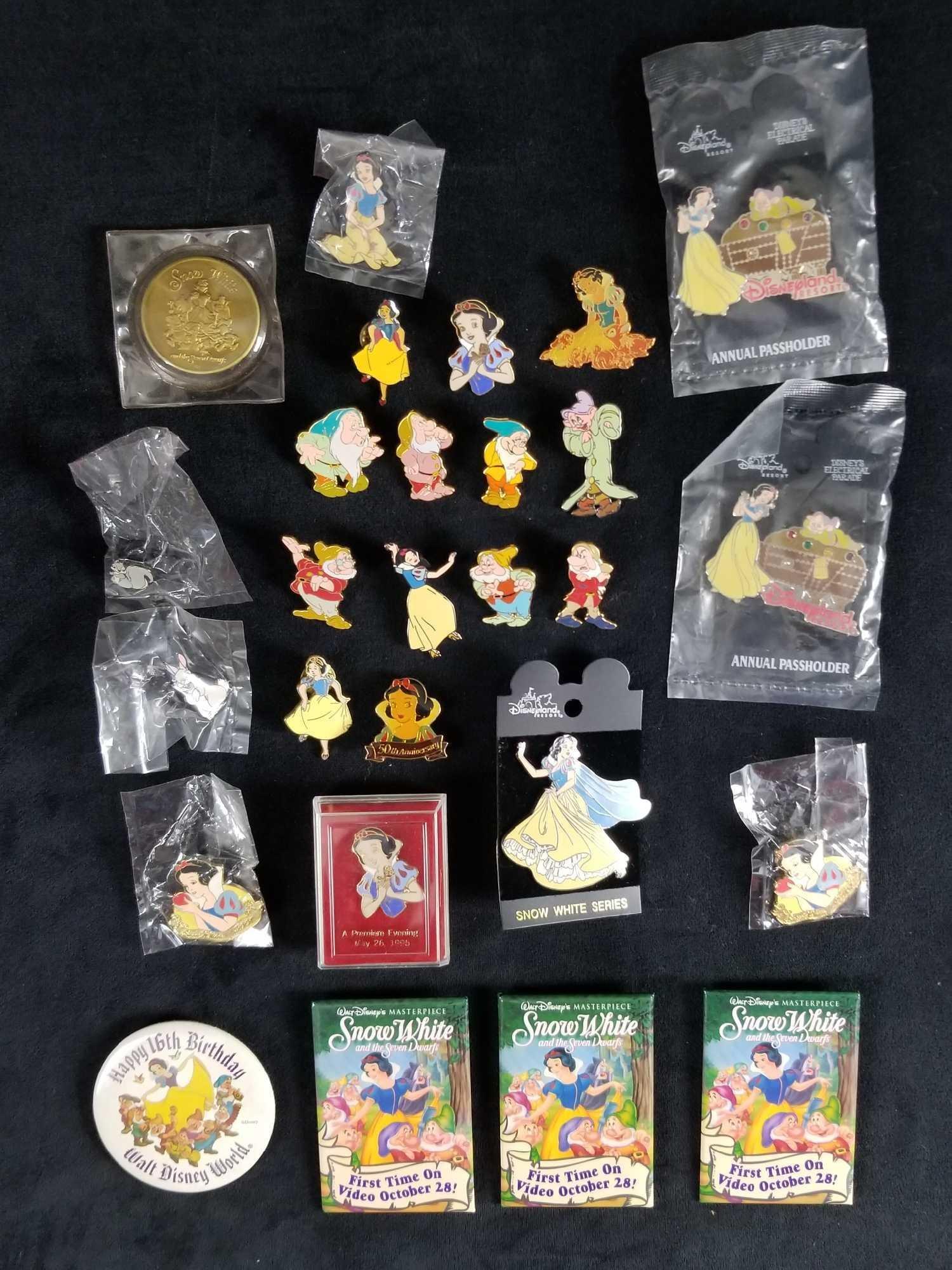 Disney Rare Snow White And The Seven Dwarfs Lot Of 26