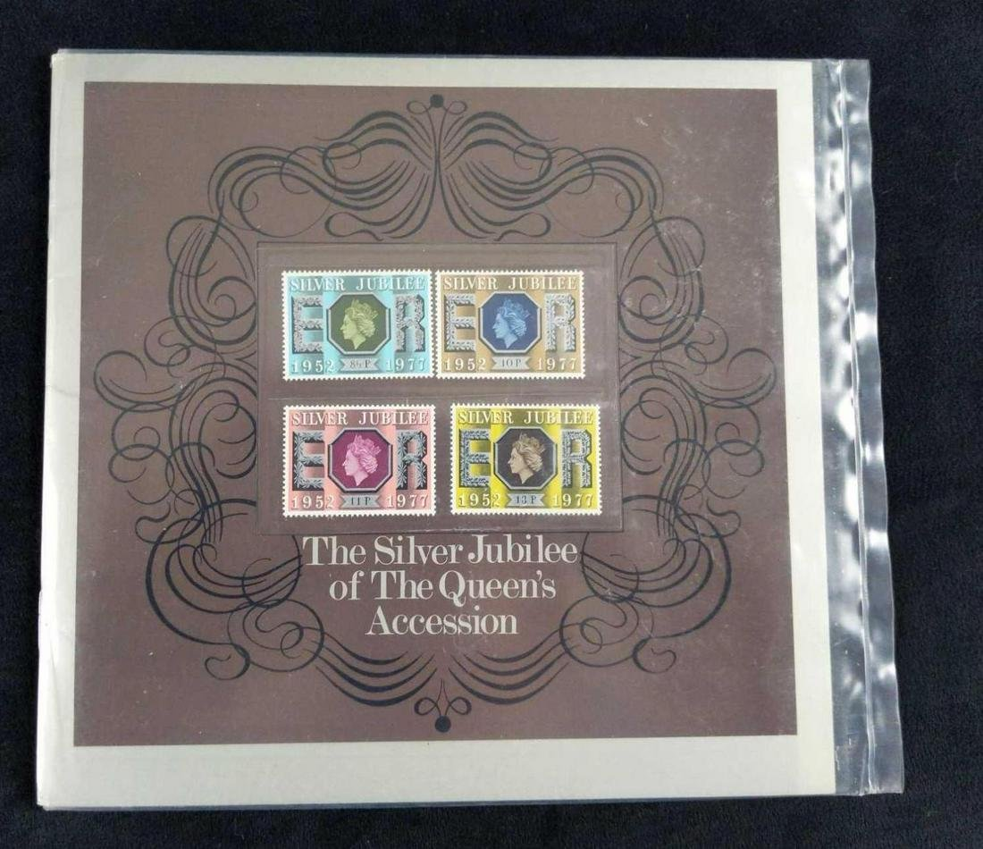 3 Silver Jubilee Of The Queen Accession Stamp Sets