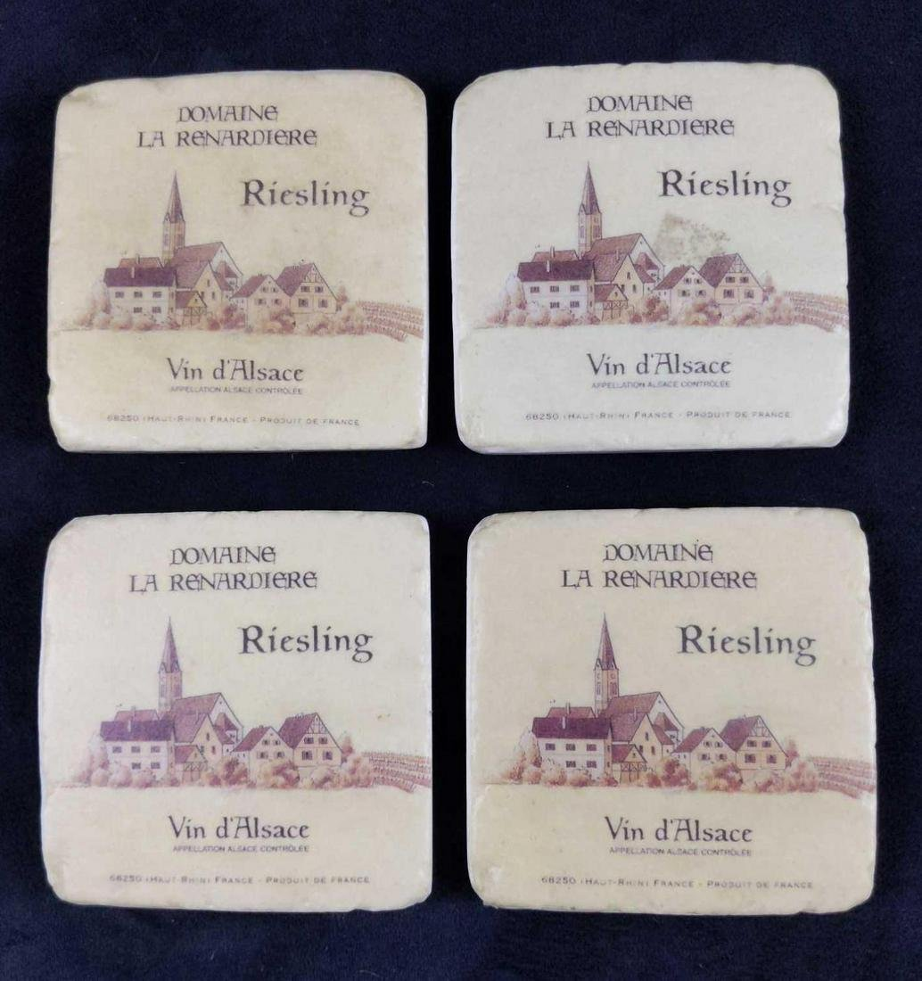 Four Domaine de la Renardiere Ceramic Coasters