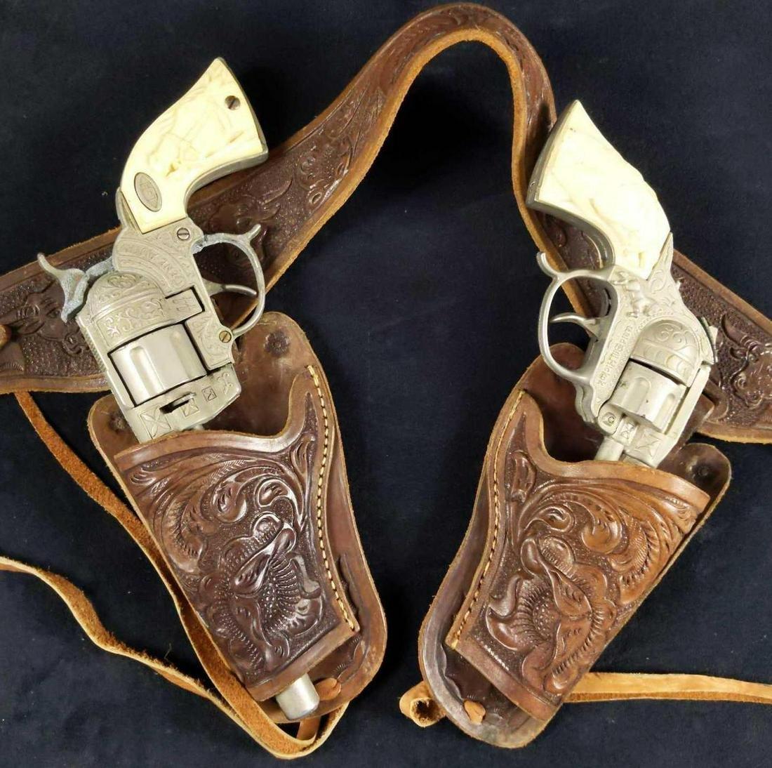 Vintage Gene Autry Bill Hickok Cap Gun W Holster